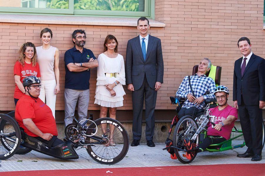 La reine Letizia et le roi Felipe VI d'Espagne à Talavera de la Reina, le 18 mai 2016
