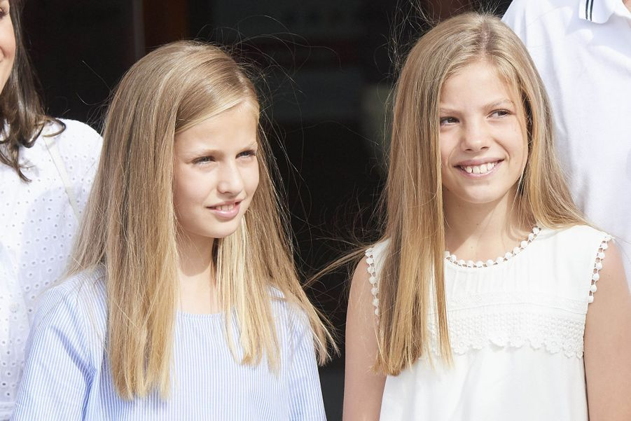 Les princesses Leonor et Sofia d'Espagneà Palma de Majorquele 1er août 2019