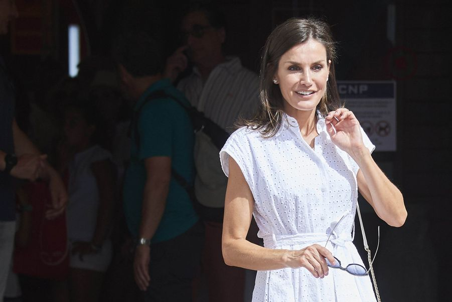 La reine Letiziaà Palma de Majorquele 1er août 2019