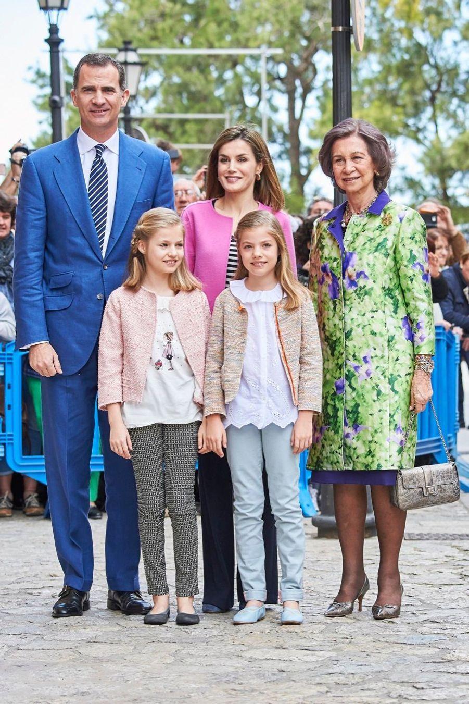 Letizia et Felipe fêtent Pâques en famille