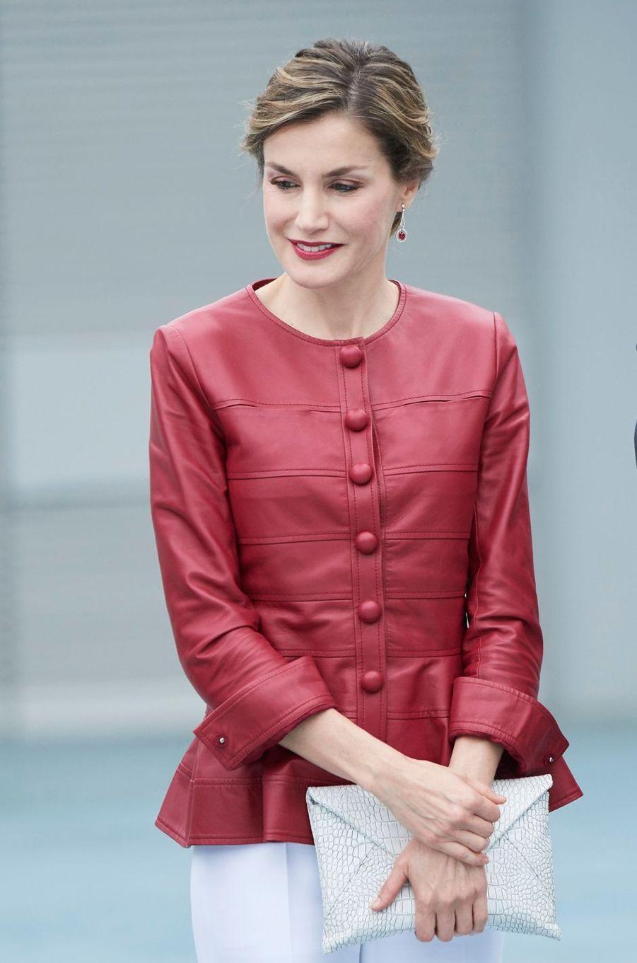 La reine Letizia d'Espagne à Santander, le 23 juin 2017