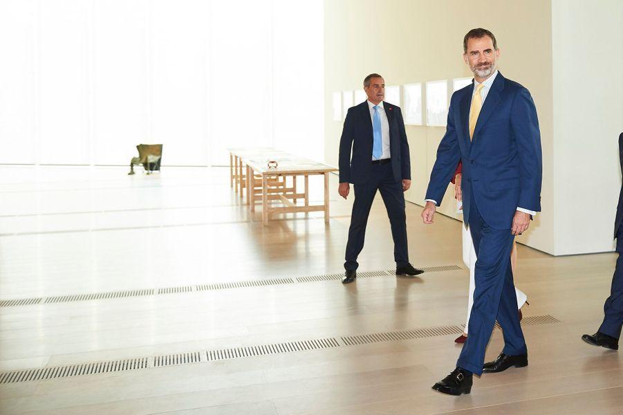 Le roi Felipe VI d'Espagne à Santander, le 23 juin 2017