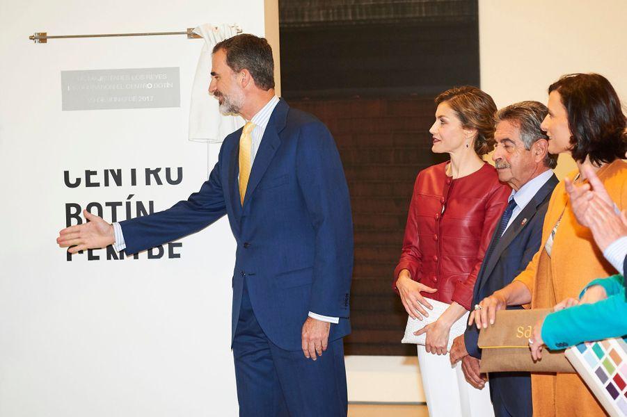La reine Letizia et le roi Felipe VI d'Espagne à Santander, le 23 juin 2017