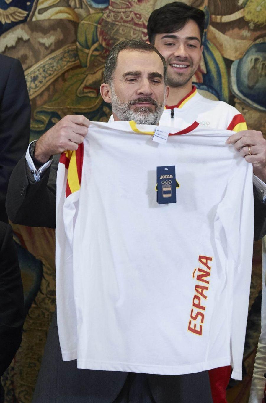 Le roi Felipe VI d'Espagne à Madrid, le 6 mars 2018
