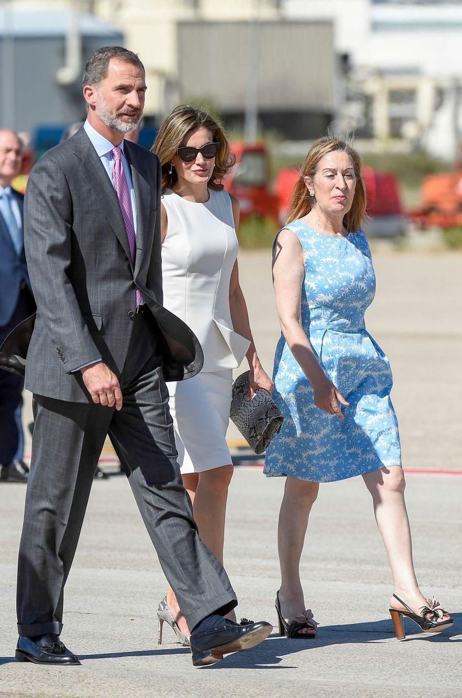 La reine Letizia et le roi Felipe VI d'Espagne à Madrid, le 11 juillet 2017