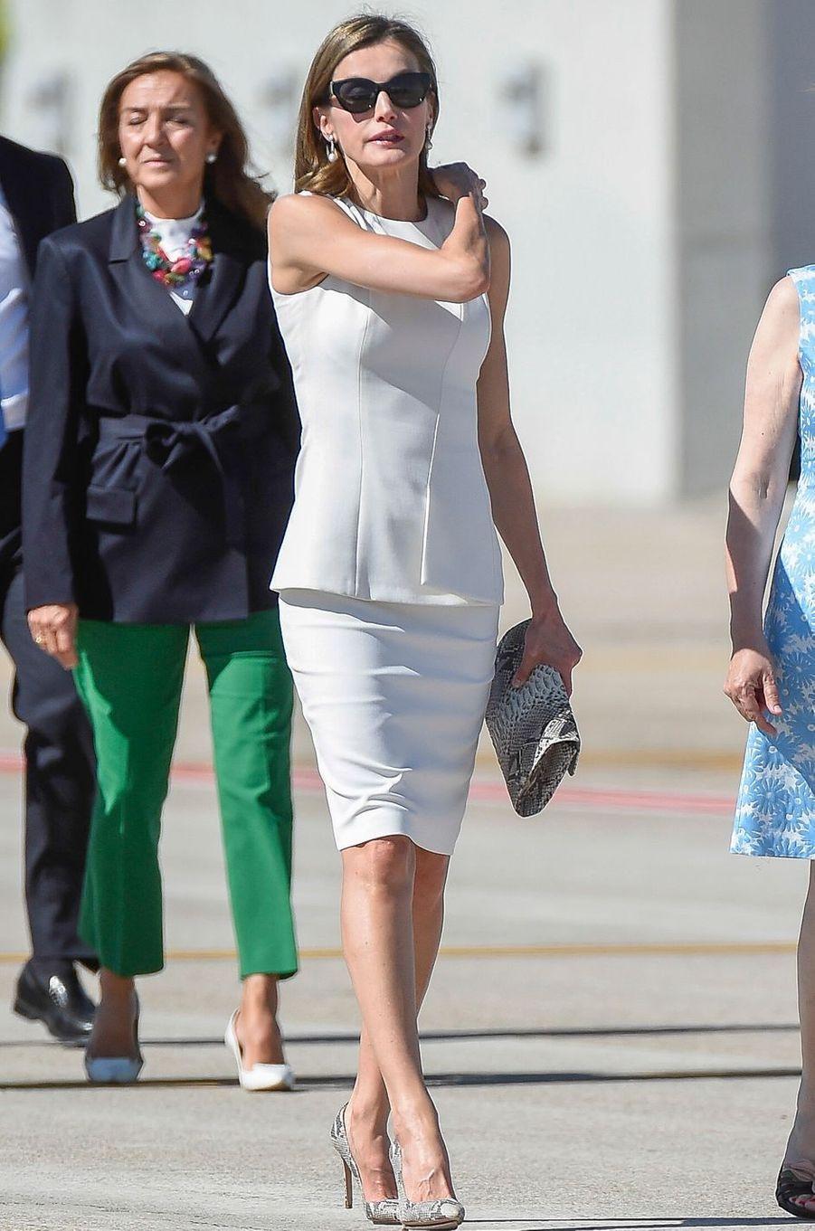 La reine Letizia d'Espagne à Madrid, le 11 juillet 2017