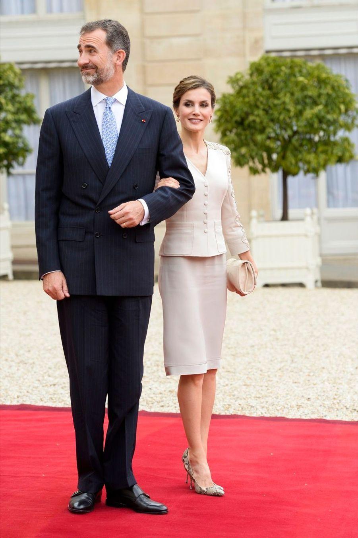 Letizia et Felipe reçus par Hollande et Royal