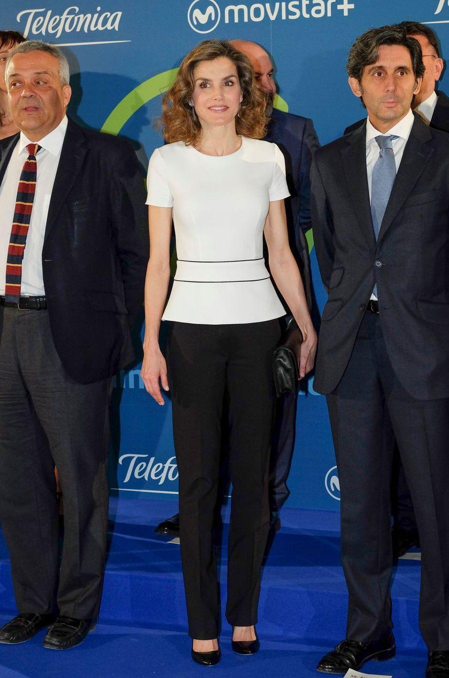La reine Letizia d'Espagne à Madrid, le 14 juin 2016