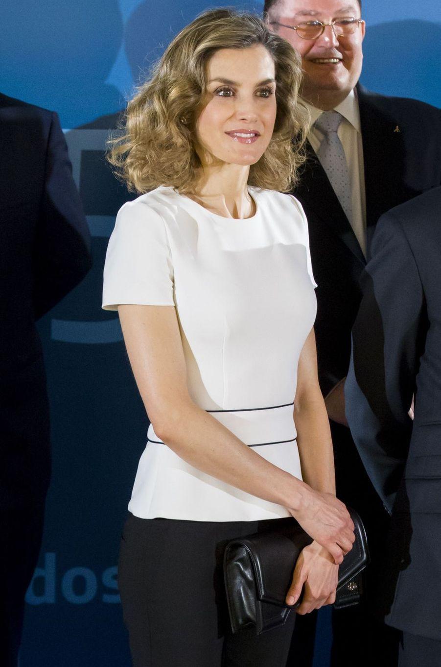 La reine Letizia d'Espagne à Madrid, le 15 juin 2016