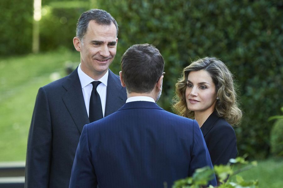La reine Letizia et le roi Felipe VI d'Espagne à Madrid, le 14 juin 2016