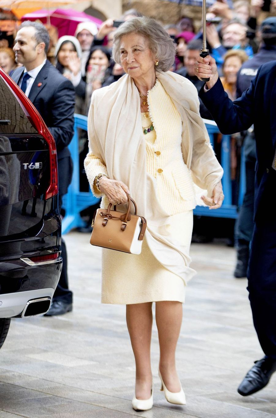 L'ex-reine Sofia d'Espagne à Palma de Majorque, le 21 avril 2019
