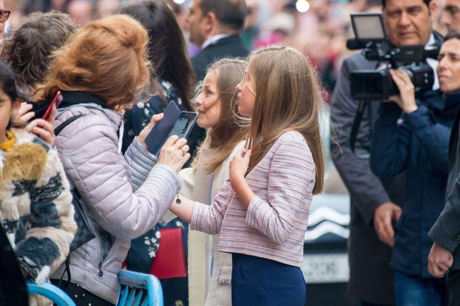 Les princesses Sofia et Leonor d'Espagne à Palma de Majorque, le 21 avril 2019