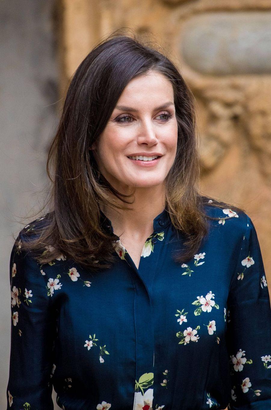 La reine Letizia d'Espagne à Palma de Majorque, le 21 avril 2019