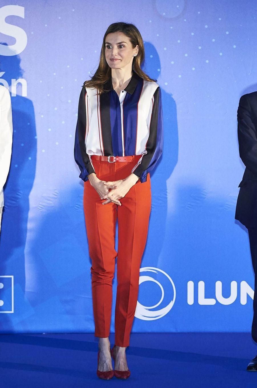 La reine Letizia d'Espagne à Madrid, le 26 juin 2017