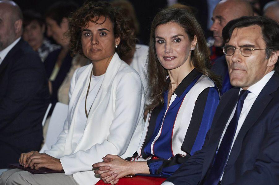 La reine Letizia d'Espagne, à Madrid le 26 juin 2017