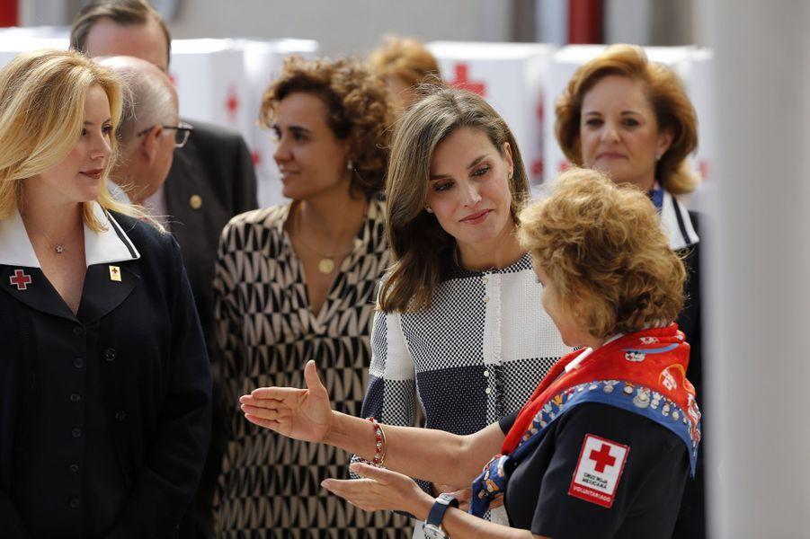 La reine Letizia d'Espagne à Mexico, le 13 novembre 2017