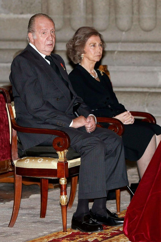 La famille royale d'Espagne réunie pour Don Carlos