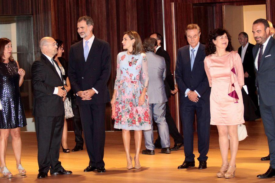 La reine Letizia et le roi Felipe VI d'Espagne à Palma de Majorque aux Baléares, le 25 septembre 2017