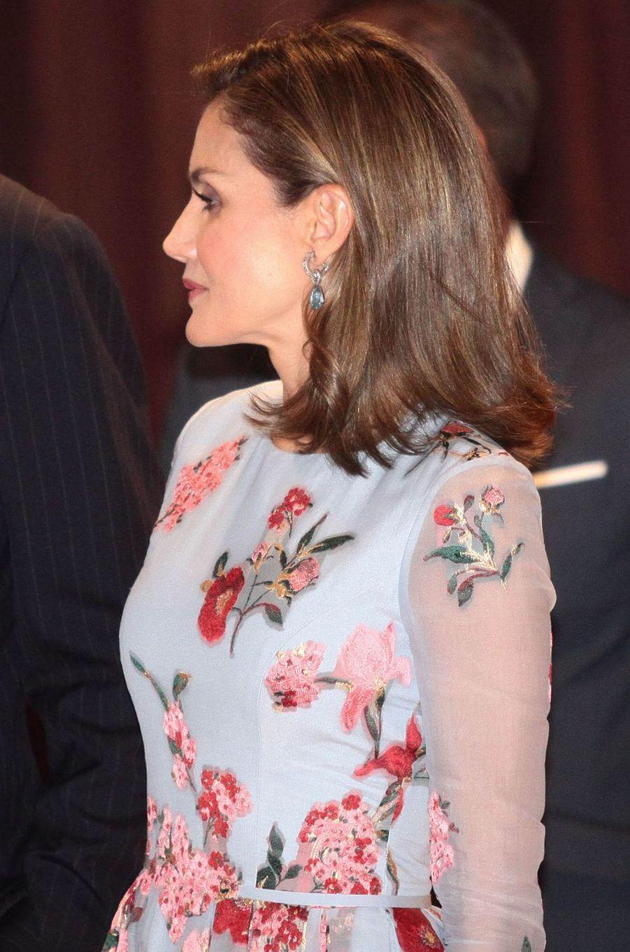 La reine Letizia d'Espagne à Palma de Majorque, le 25 septembre 2017