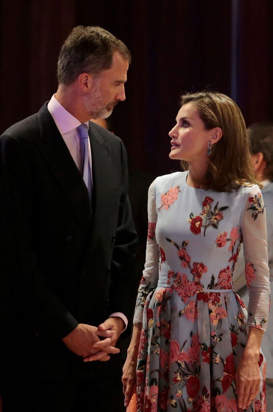 La reine Letizia d'Espagne arbore une nouvelle coupe de cheveux à Palma de Majorque, le 25 septembre 2017