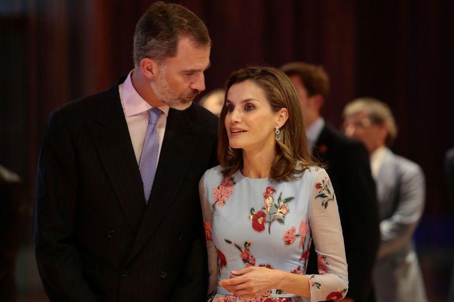 La reine Letizia et le roi Felipe VI d'Espagne à Palma de Majorque, le 25 septembre 2017