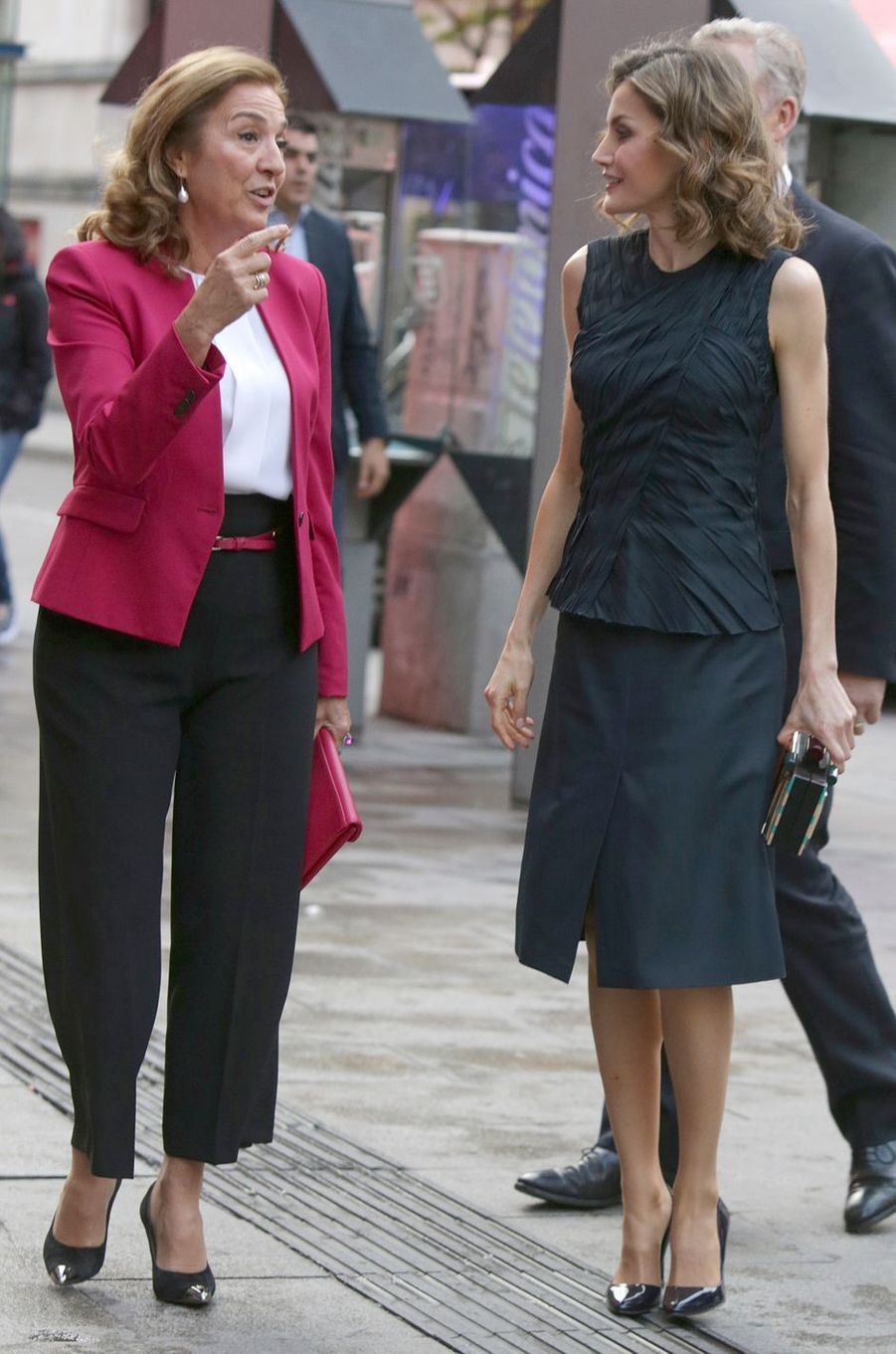 La reine Letizia d'Espagne à Madrid, le 12 mai 2016
