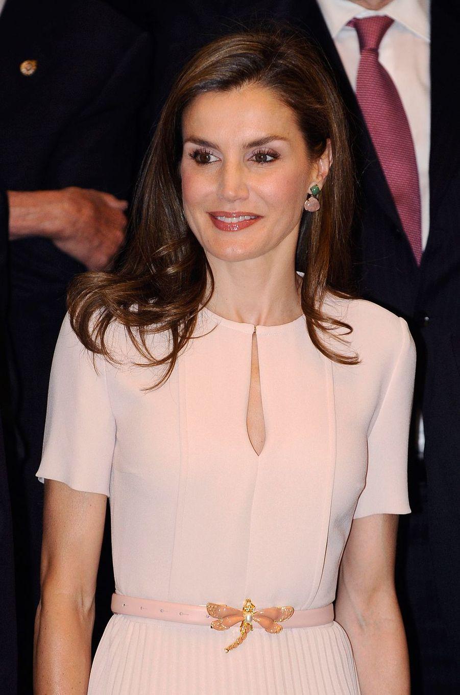 La reine Letizia d'Espagne à Madrid, le 22 juin 2017