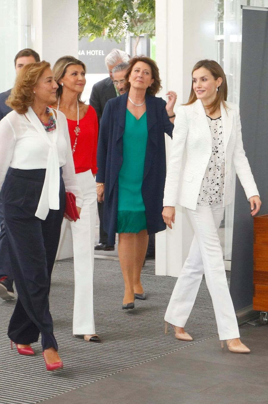 La reine Letizia d'Espagne à Barcelone, le 22 septembre 2016