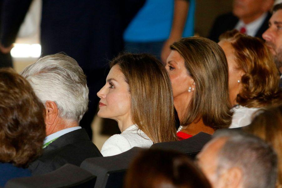 La reine Letizia d'Espagne le 22 septembre 2016 à Barcelone