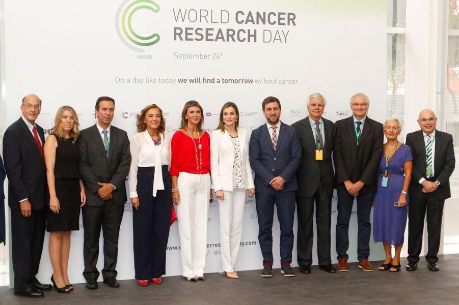 Letizia lance la Journée mondiale de la recherche sur le cancer