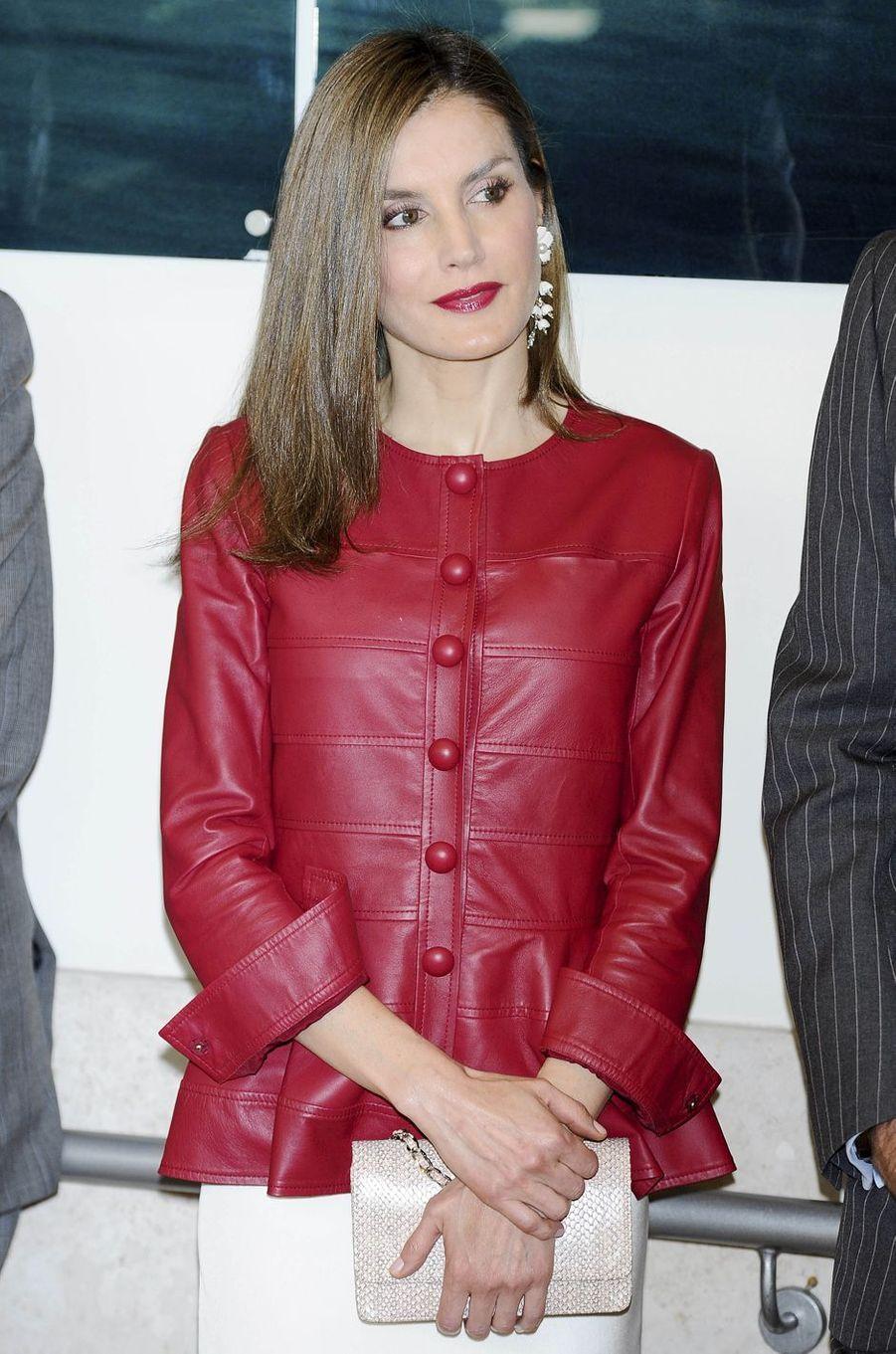 La reine Letizia d'Espagne, le 22 mai 2017