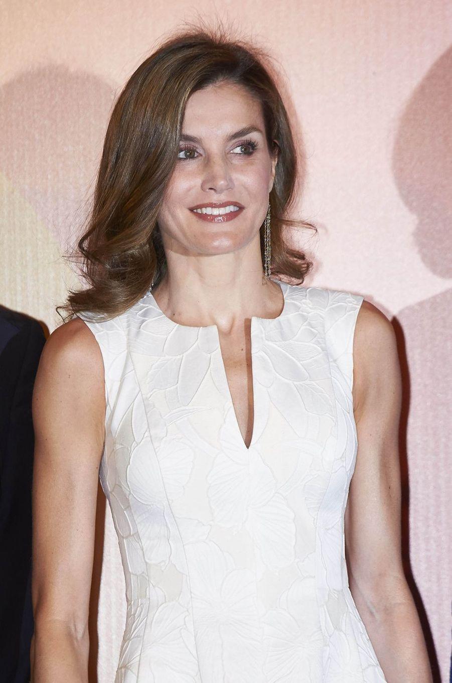 La reine Letizia d'Espagne, le 17 juillet 2017