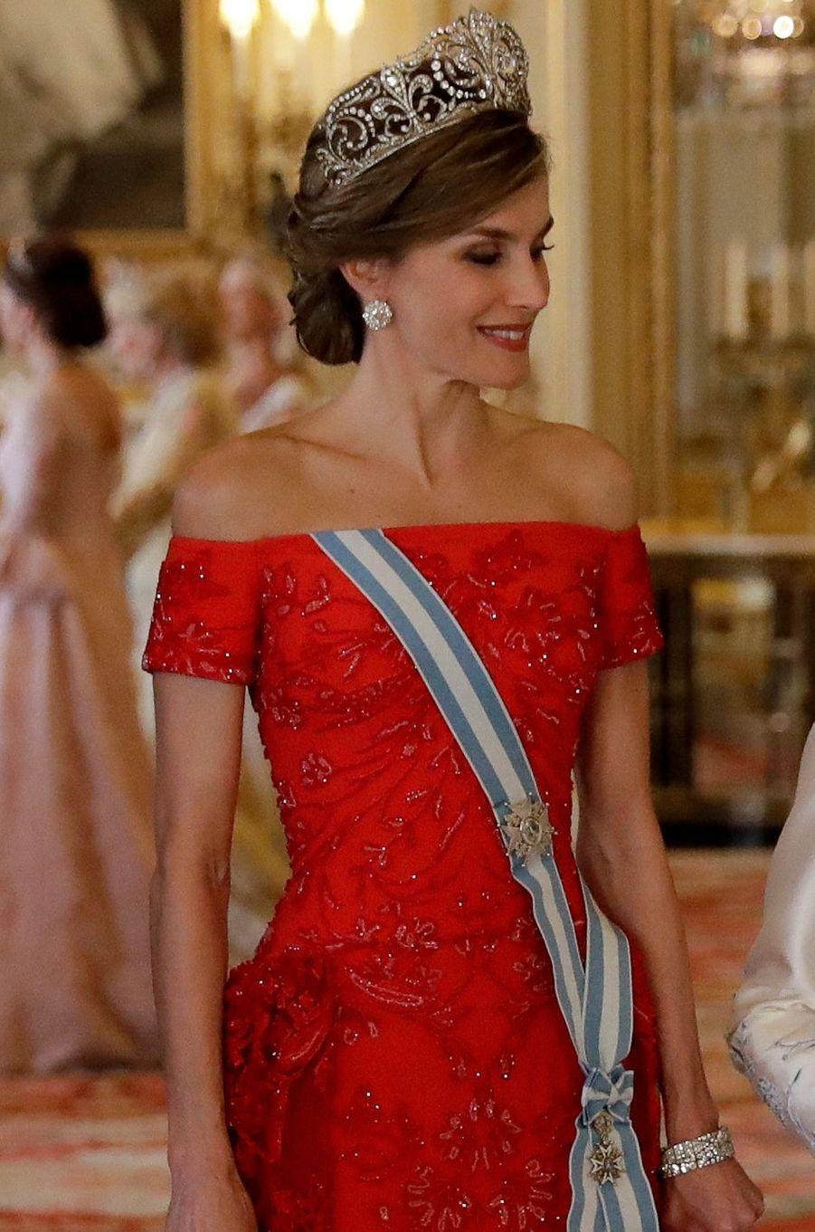 La reine Letizia d'Espagne, le 12 juillet 2017