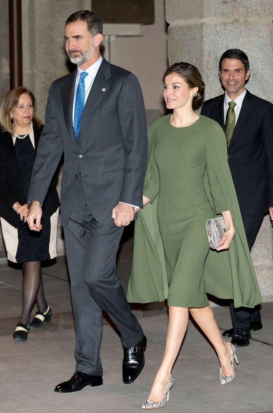 La reine Letizia d'Espagne, le 6 février 2017