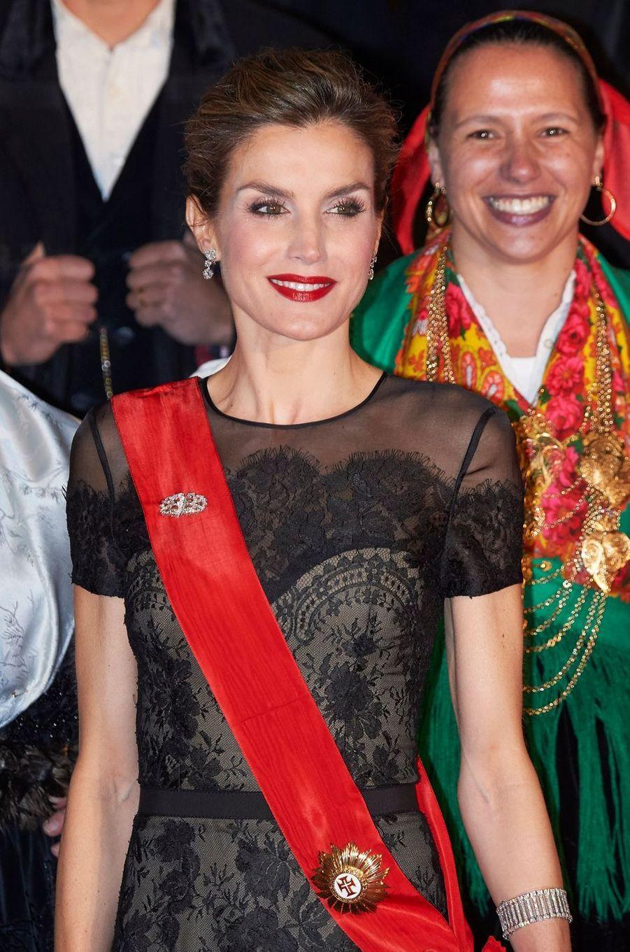 La reine Letizia d'Espagne, le 28 novembre 2016
