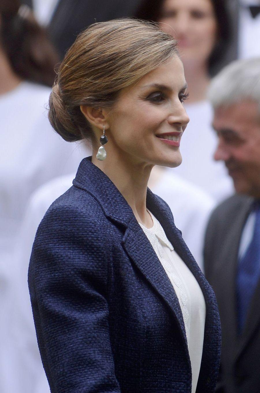 La reine Letizia d'Espagne à San Sebastian, le 17 juin 2016