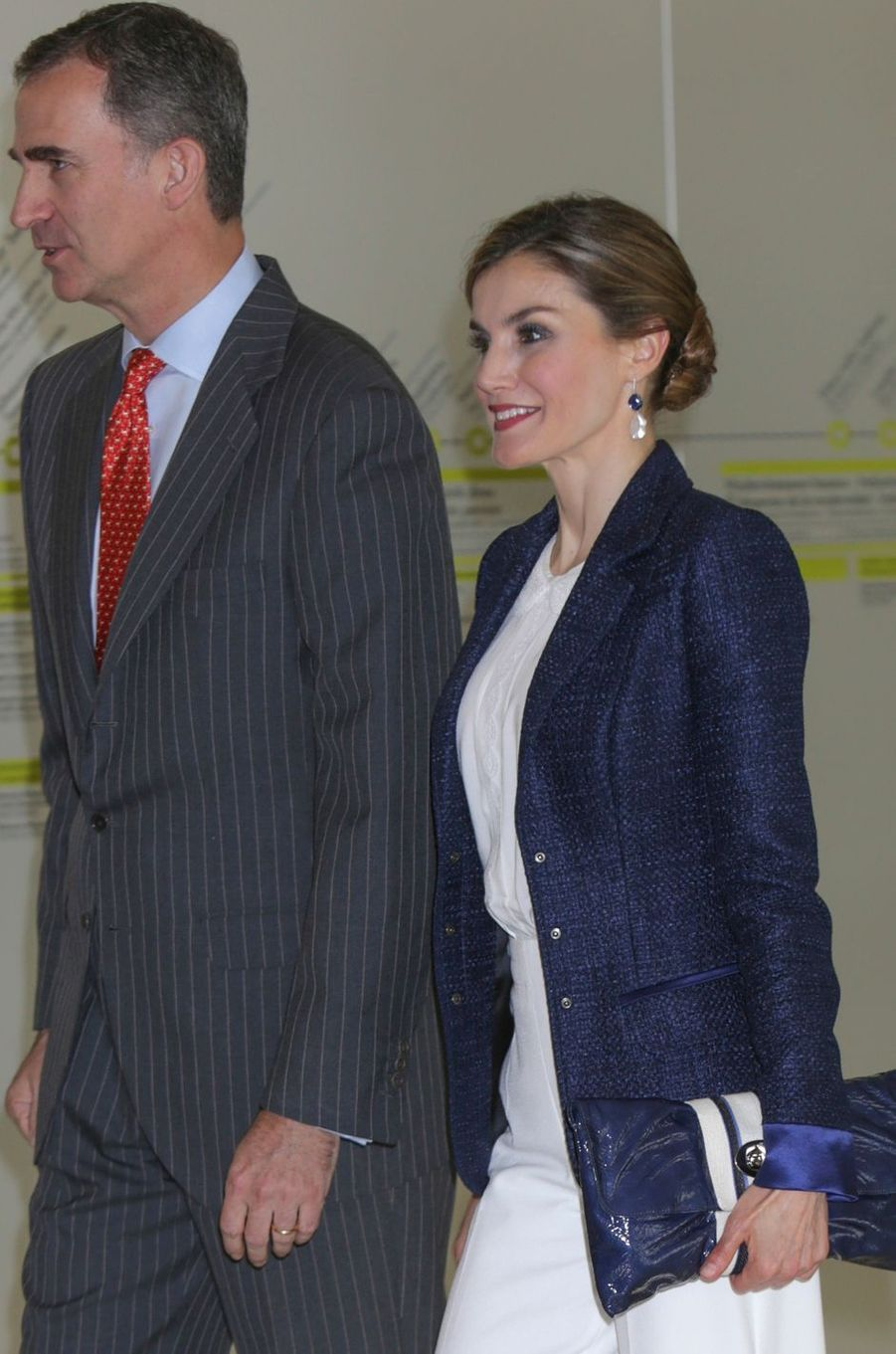 La reine Letizia et le roi Felipe VI d'Espagne à San Sebastian, le 17 juin 2016