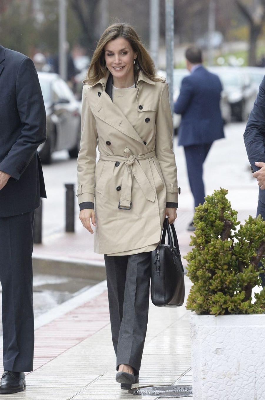 La reine Letizia d'Espagne à Madrid, le 16 décembre 2016