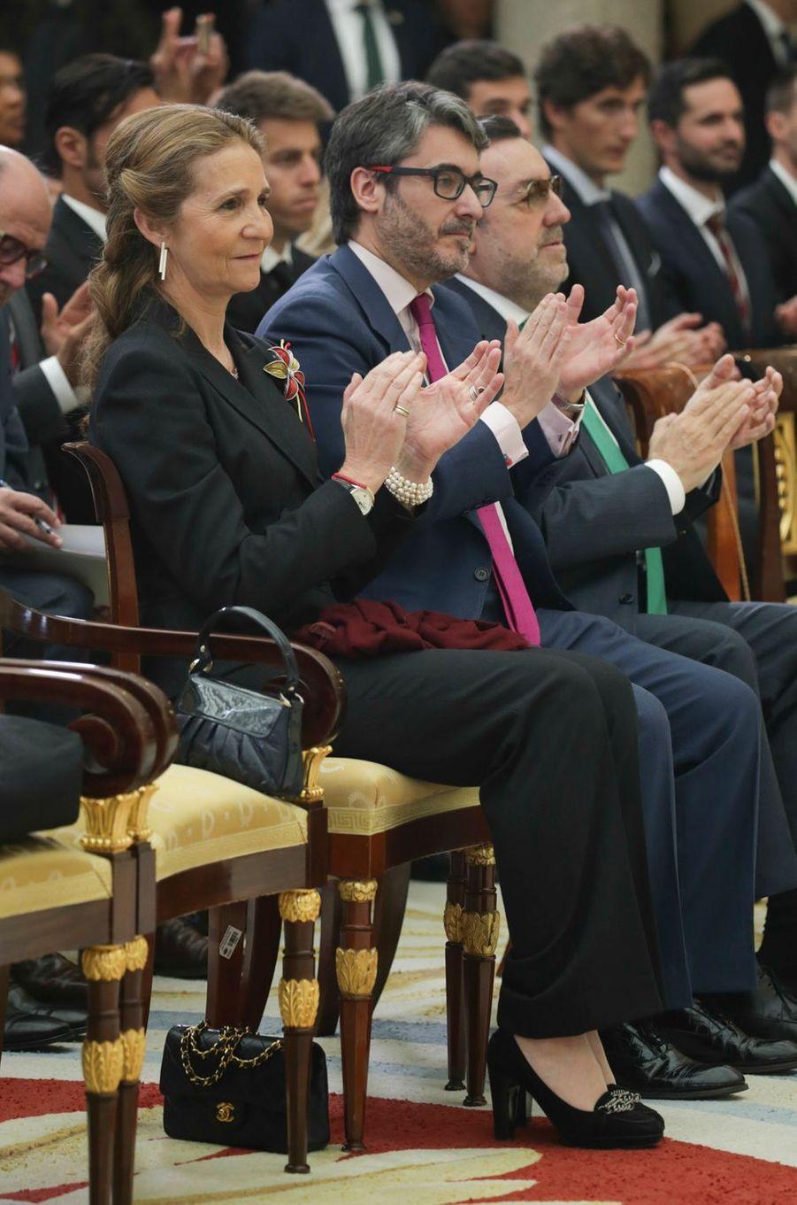 L'infante Elena d'Espagne à Madrid, le 19 février 2018