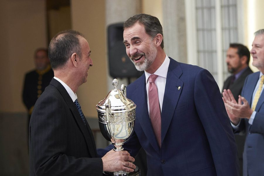 Le roi Felipe VI d'Espagne à Madrid, le 19 février 2018