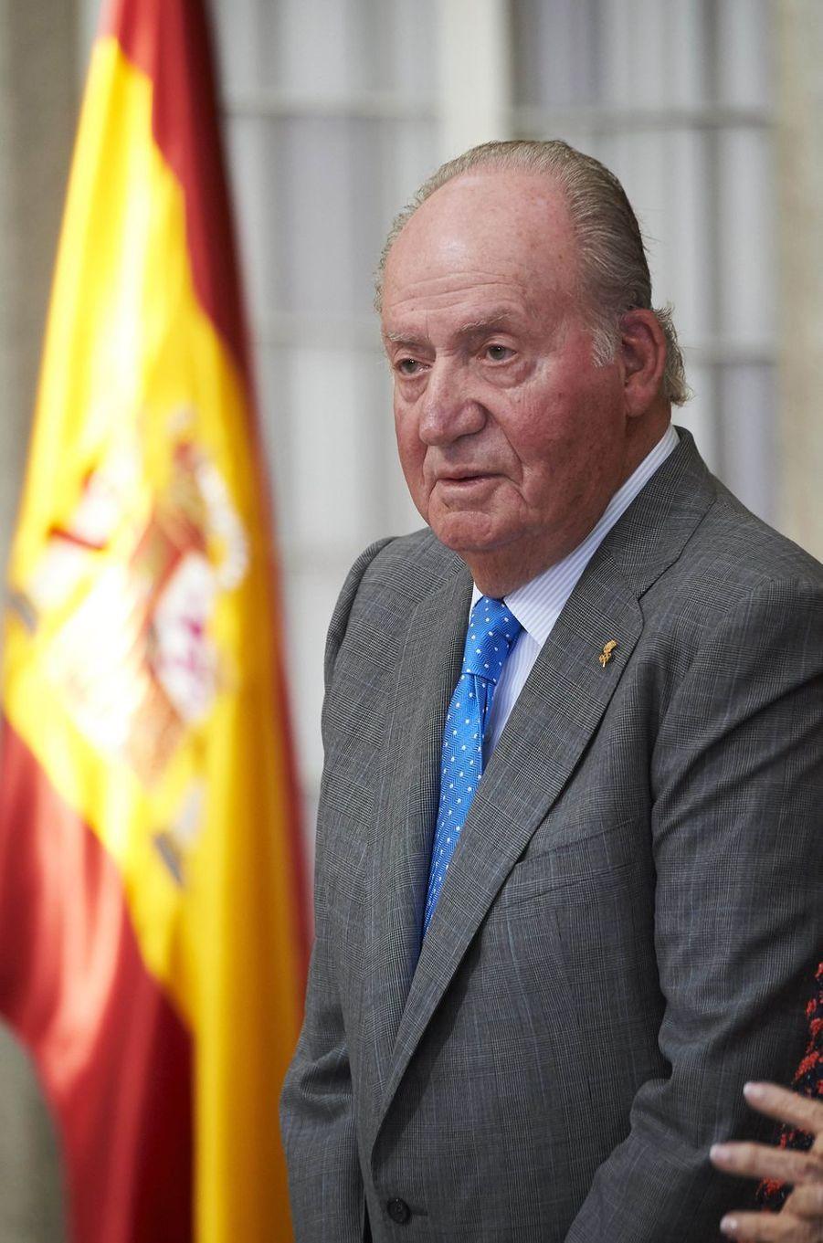 L'ex-roi Juan Carlos à Madrid, le 19 février 2018