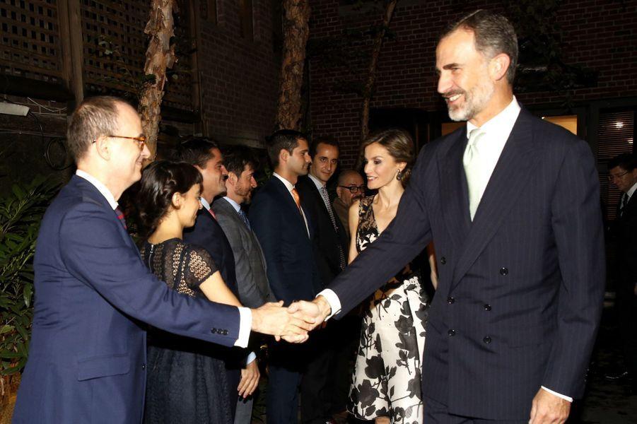 La reine Letizia et le roi Felipe VI d'Espagne à New York, le 19 septembre 2016