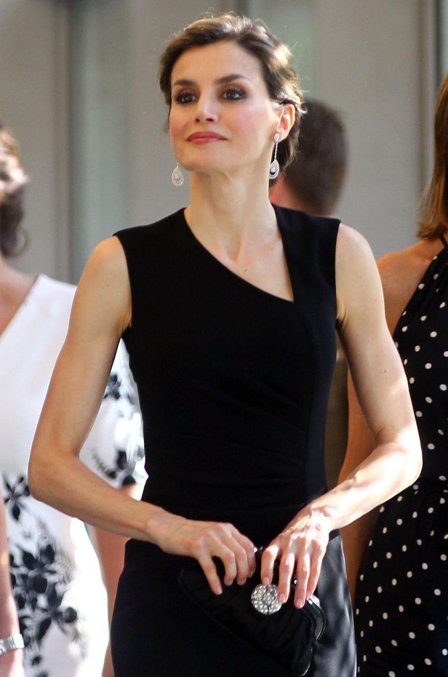 La reine Letizia d'Espagne à Gérone, le 1er juillet 2016