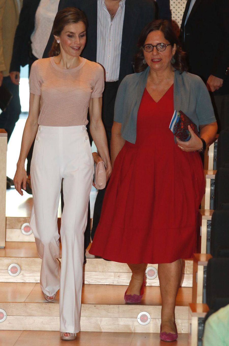La reine Letizia d'Espagne à Gérone, le 2 juillet 2016