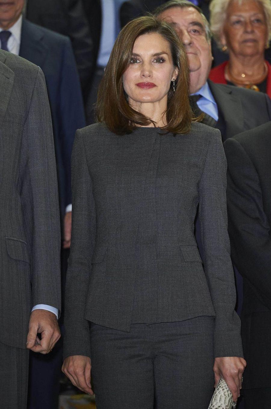 La reine Letizia d'Espagne à Madrid, le 24 novembre 2017