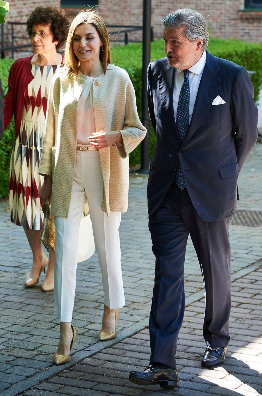 La reine Letizia d'Espagne à Madrid, le 9 juin 2016