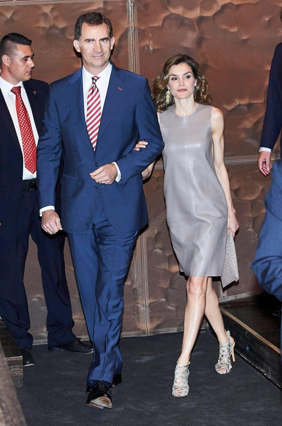 La reine Letizia et le roi Felipe VI d'Espagne à Madrid, le 10 juin 2016