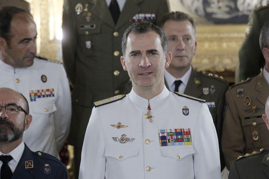Le roi Felipe VI d'Espagne à Madrid, le 9 juin 2016