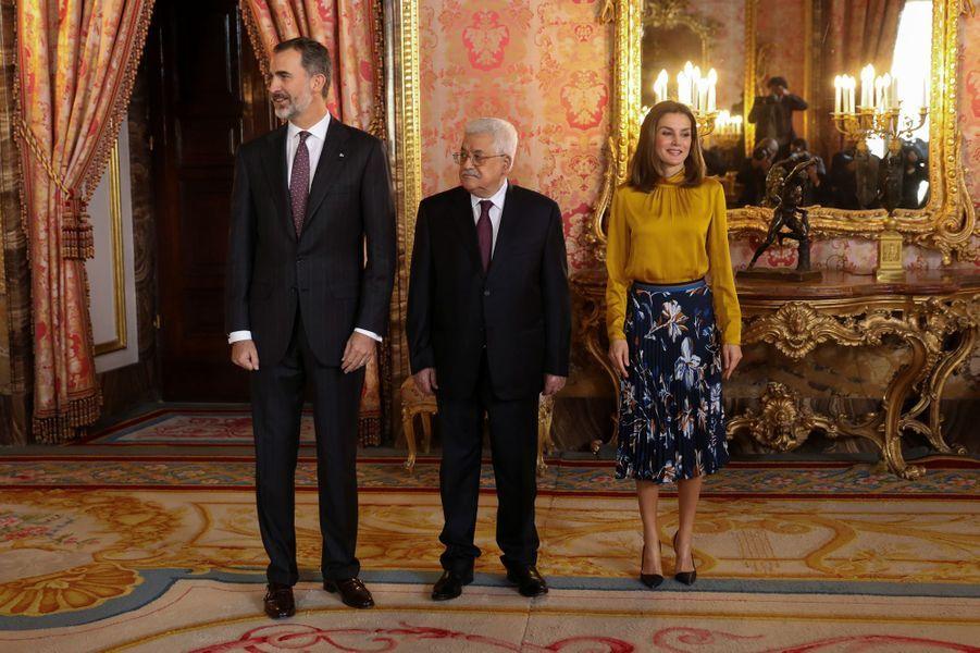 La reine Letizia et le roi Felipe VI d'Espagne à Madrid, le 20 novembre 2017