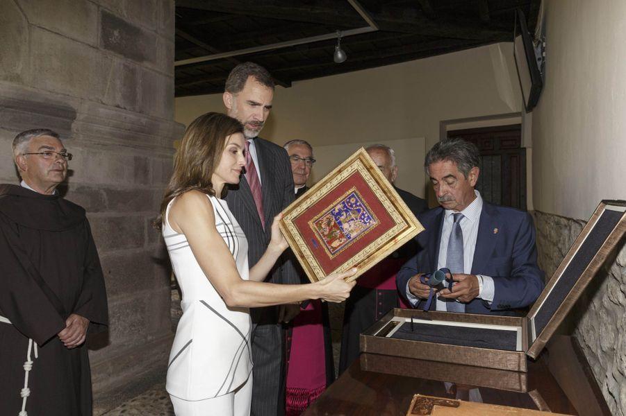 La reine Letizia et le roi Felipe VI d'Espagne à Cameleno le 19 juillet 2017